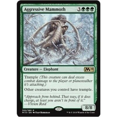 AGGRESSIVE MAMMOTH M19 Core Set 2019 MTG Green Creature — Elephant Rare
