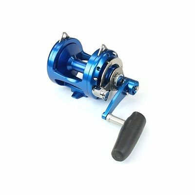 Realistic New Avet Pro Exw 30/2 Wide Fishing Reel 2 Speed Free Spooling And Ship blue