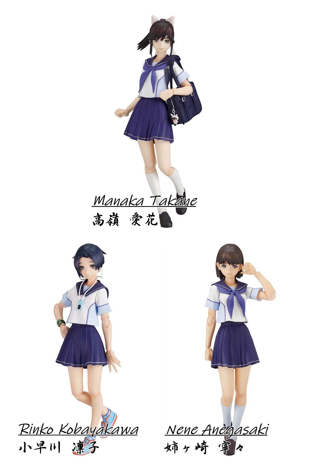 Figma LovePlus + action MaxFactory Manaka Takane Rinko Kobayakawa Nene Anegasaki
