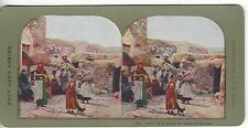 Court of a Home in Cana of Galilee, Color Stereoview