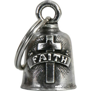 Biker Motorrad Guardian Bell Glocke Glücksbringer Faith Cross Key Anhänger US