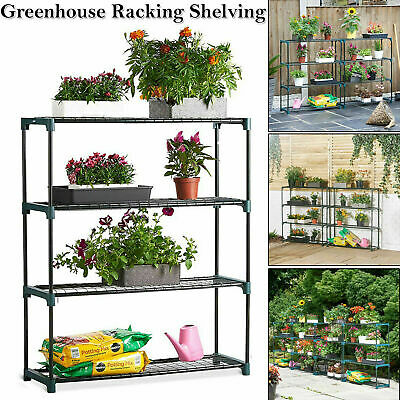 New 4 Tier Steel Mini Garden Greenhouse Staging Shelving Plant Stand Single Pack