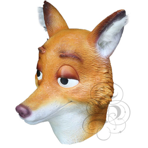 Latex Mr Wilde Fox Animal Head Fancy Dress Carnival Party Theater Cartoon Mask