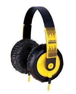 IDANCE SEDJ600 Headphones, Yellow - NEW!