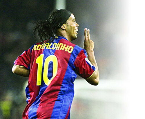 "Brazil Barcelona Football Player 17/""x14/"" Poster 002 Ronaldo de Assis Moreira"
