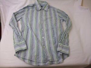 f7ffc69771 Details about Vintage H&M Vertical Striped Men's Button Down Long Sleeve  Shirt Size 15 3/4