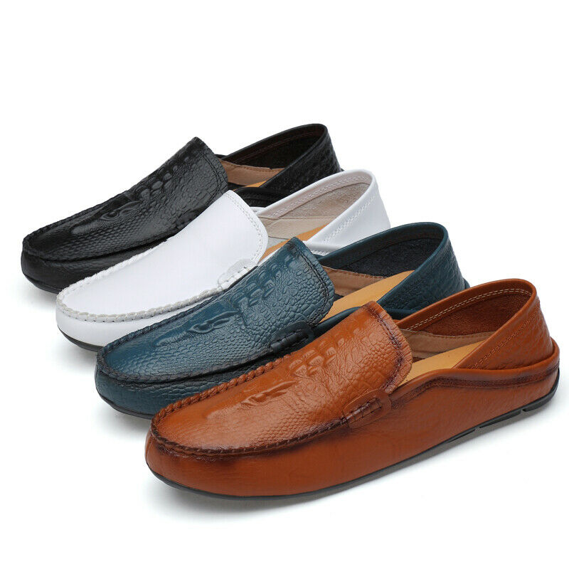 Men sautope Pull On Driving Moccasins Loafers Driving sautope Leather moda Low Sautope classeiche da uomo