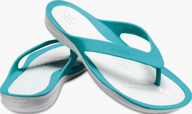 0ba3cd1c7b64e New Swiftwater Crocs Flip Flop Thong Sandal - Women s Size 9 - Teal   White
