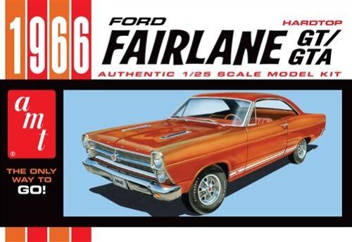 AMT 1966 Ford Fairlane GT//GTA Hardtop Plastic Kit 1//25 AMT1091-NEW