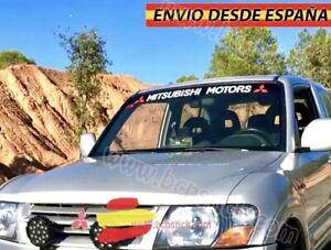 Adhesivo-Lateral-Decal-stickers-Vinilos-Coche-4x4-Mitsubishi-parabrisas-130x21cm