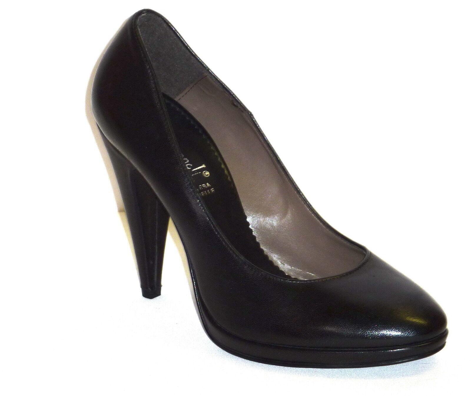 Schuhe Schuhe Schuhe Damens PELLE NAPPA NERO DECOLLETE n. PLATEAU E TACCO ALTO b0d5da
