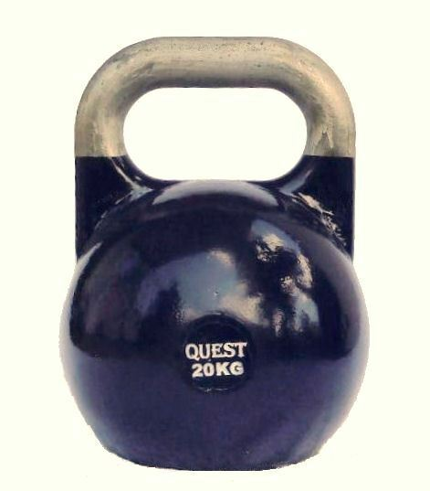 20 KG (44 LB) Quest Pro-Grade Competition Competition Pro-Grade Kettlebell CrossFit Steel Kettle Bell 1589fc