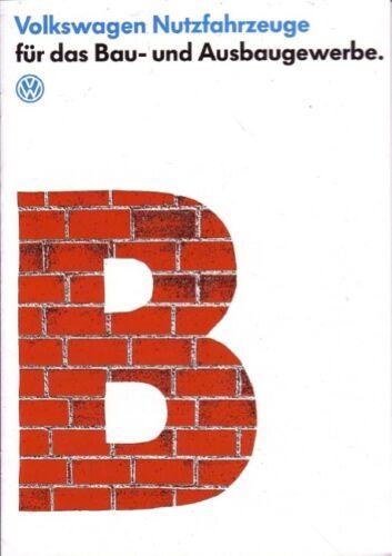 VW Bus T4 10//91 Prospekt Baugewerbe