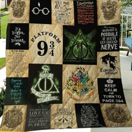 Harry/_Potter Quilt BlanketHarry/_Potter Gifts Quilt,Fleece Blanket