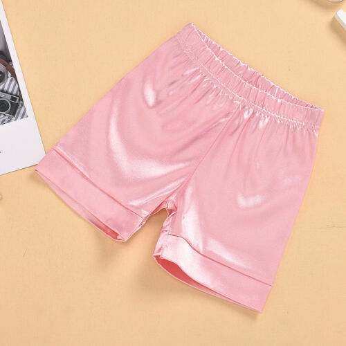 Baby Kids Boys Girl Silk Satin Pajamas Set Suit Long Sleeve Nightwear Sleepwear