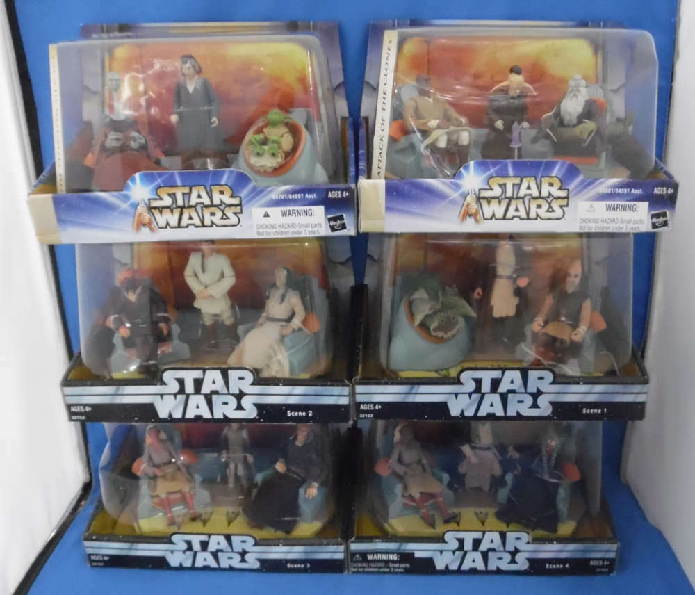 Star Wars Jedi High Council Full Complete Set of 6 New Sealed Yoda Yaddle