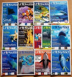 12x-Unterwasser-2005-Jahrgang-Zeitschrift-Sport-Meere-Tiere-Urlaub-Tauchen