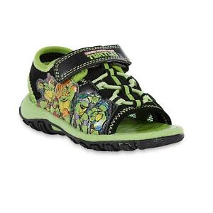 * Neuf Avec étiquettes * Ninja Turtles Toddler Boy's Sport Sandale Light-up, Sz: 6,7,8-afficher Le Titre D'origine