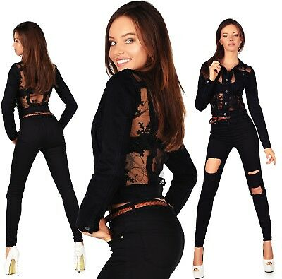 Sexy In Pizzo Donna Elegante Blazer/jeans Destroyed Skinny Slim H 972- Abbiamo Vinto L'Elogio Dai Clienti