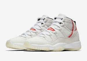 Nike Air Jordan Retro 11 Platinum Tint Size 4Y-11 Sail University Red 378037-016