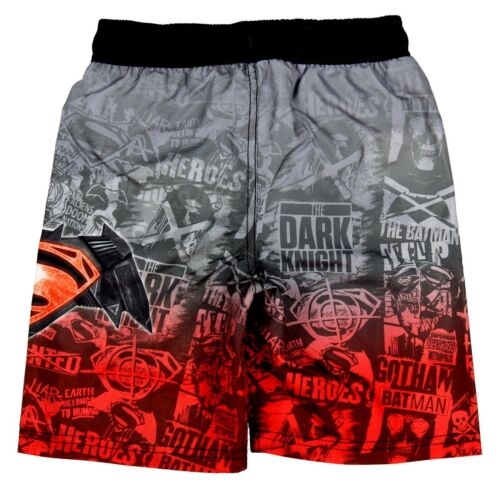 Swim Uv50 Boys S Dc 6 7 Batman Costume Trunks Superman da Board bagno Vs Shorts Comics x7qXIwqfH