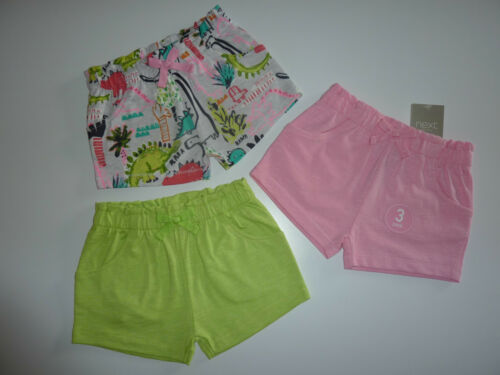 NEXT 3 Pairs Really Cute Little Girls Shorts NWT