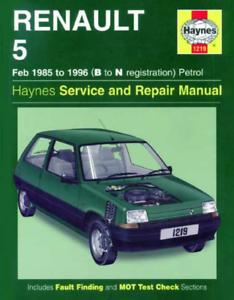 Haynes Workshop Manual Renault 5 1985-1996 Petrol Van GT Turbo service  Repair | eBayeBay