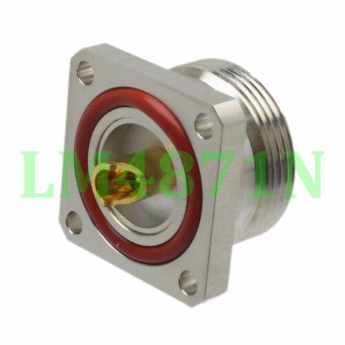 4pcs Connector 7//16 DIN L29 female 4-hole 32mm flange solder O-ring panel mount