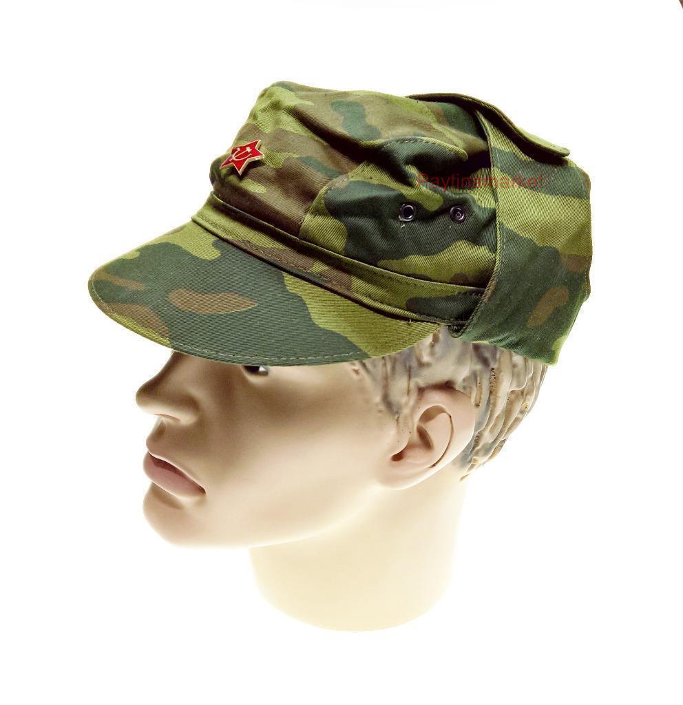 Russian Army Soldier Cap Butan Butan Butan Military Сamouflage Hat Soviet Uniform Flora Star 840f54