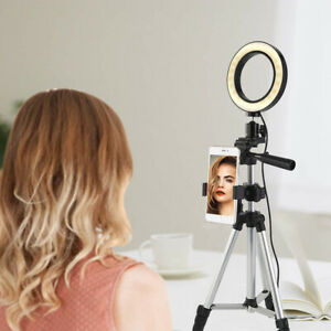 Details about Selfie LED Ring Makeup Light+Camera Phone Tripod Stand for  YouTube TikTok Video