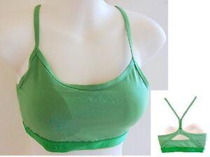 Padded Sports Gym bra crop top Yoga Dance Fitness Womens Green S M L XL XXL