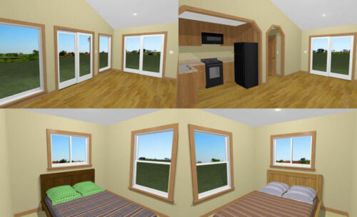 Model 1 30x20 House 2 Bedroom 1 Bath PDF Floor Plan 600 sq ft