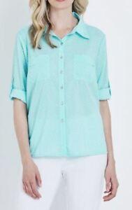 NONI-B-Shirt-Size-10-12-14-16-18-Mint-Spot-Top-Blouse-RRP-79-95-3-4-Sleeve