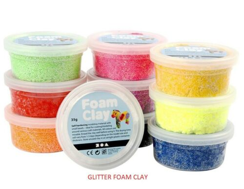 Children Glitter Foam Clay Modeling Art Mold  Kids Safe Creativity Art Crafts