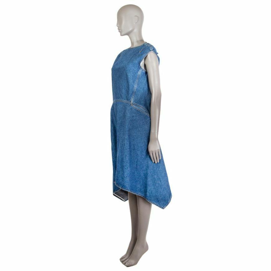 58868 auth BALENCIAGA blue cotton Denim Asymmetri… - image 2