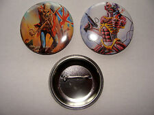 LOT 2 BADGES     IRON MAIDEN     56MM
