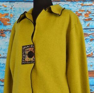 Boho Single Art Frakke Størrelse Jes Blazer Jacket Button Irie Medium Usa Uld Women's 8qw7A