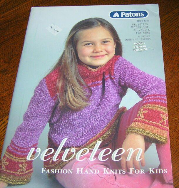 Patons Knitting 21 Pattern Book Kids Children Boys Girls Funky 2