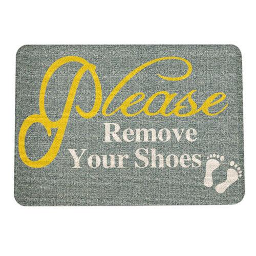 Door Mat Welcome Please Remove Your Shoes Doormat Entrance Floor Rug Carpet RSDE