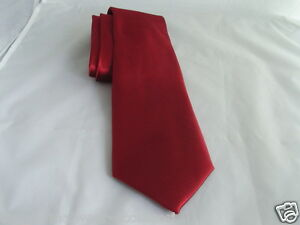"""/<CRST/> Shiny Burgundy Wine Polyester Tie /& Hanky-3.5/"""" Width/>More UBuy/>More USave"""