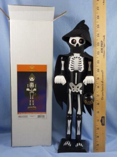 """15"""" Skeleton NUTCRACKER by Kurt Adler #HW1625 Halloween Decor!"""