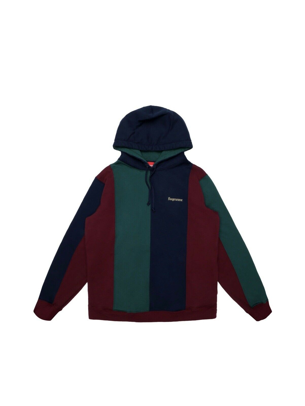 SUPREME NEW WITH TAGS TRIFarbe HOODED SWEARhemd BURGUNDY Größe M FALL 2017