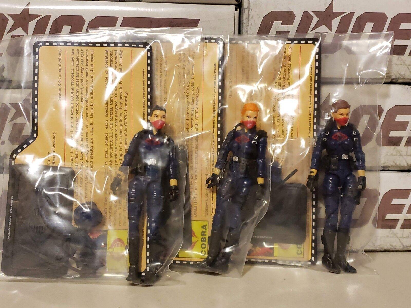 GI Joe Club Exclusive Female Cobra Trooper 3-pack NEW SEALED