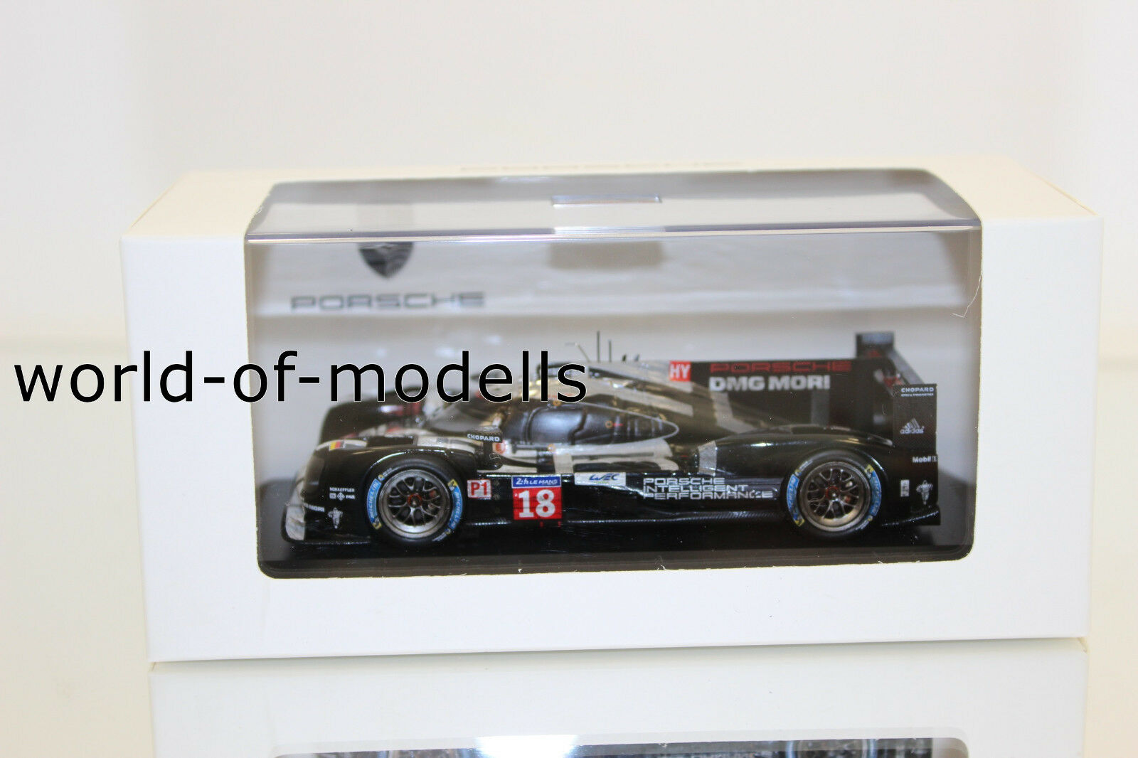 Spark map02087515 porsche 919 Hybrid 18 Le Mans 2015 Dark Finish version 1 43