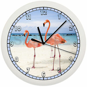 Pink flamingo wall clock decorative bird gift florida art for Home interiors gifts inc company information