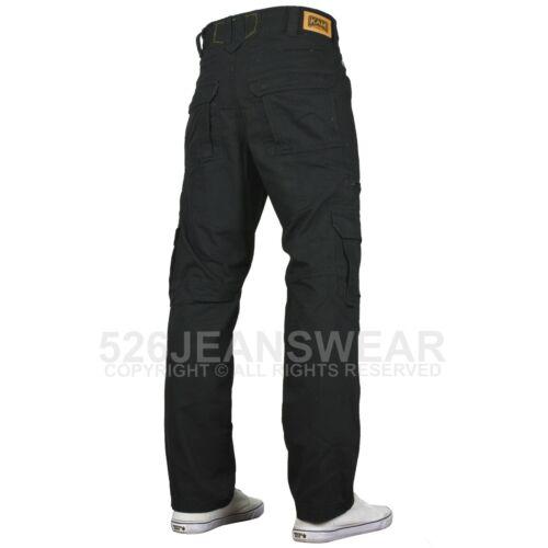 Kam Mens COMBAT Cargo Casual Outdoor MULTITASCA lavoro Rilassato Pantaloni nuovo con etichetta
