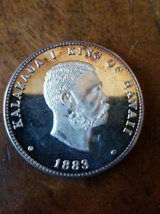 Rare-1982-King-Kalakaua-Silver-Kala-Dala-1-Troy-Oz-999-Fine-Silver
