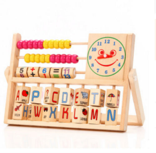 Wooden Toys Baby Math Learning Developmental Studying Educational Abacus Kids