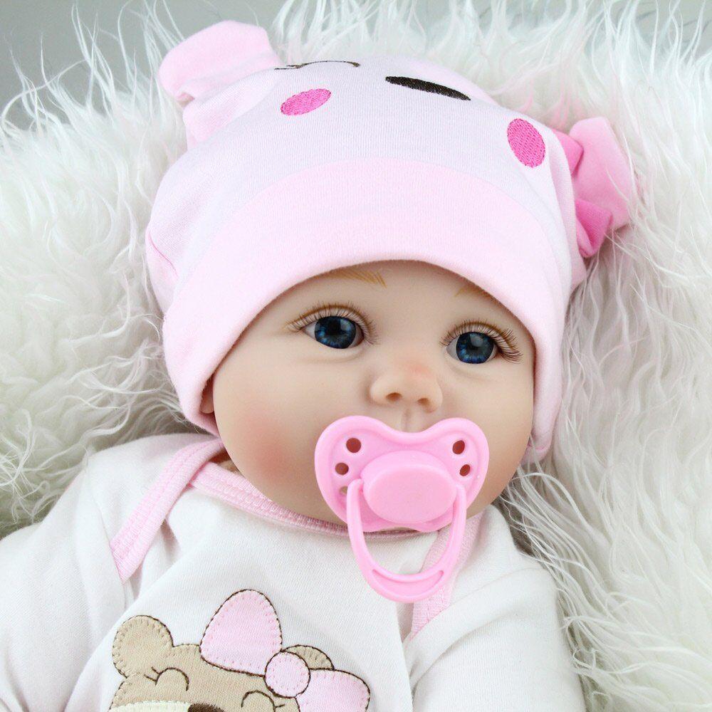 Realistic Reborn Dolls Baby Lifelike Vinyl Fake Girl Boy Newborn Xmas Gift Toy 6