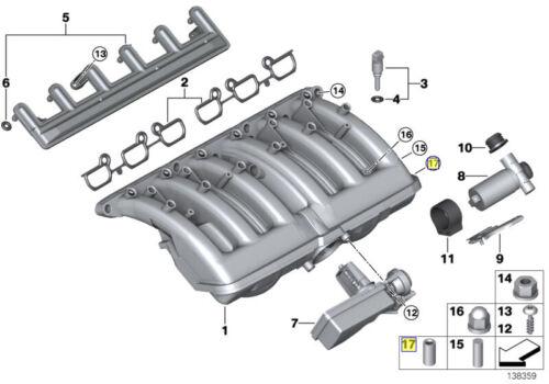 BMW 7 mm Tubo A Vuoto Linea Porta Otturatore tappo 11611727176